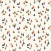 Lewis & Irene - Bear Hug - 6186 - Multicoloured Trees & Bears on Cream  - A313.1 - Cotton Fabric